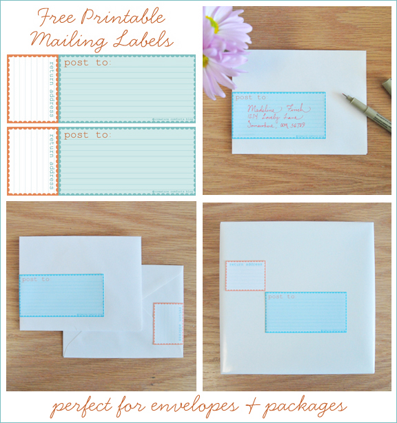 Fabulous packaging and wrapping with rikrak etsy blog for Free printable mailing labels
